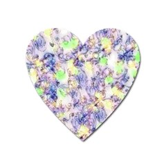 Softly Floral B Heart Magnet