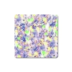 Softly Floral B Square Magnet