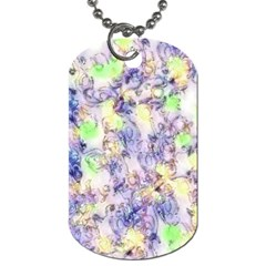 Softly Floral B Dog Tag (One Side)
