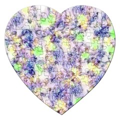 Softly Floral B Jigsaw Puzzle (Heart)