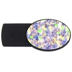 Softly Floral B USB Flash Drive Oval (4 GB)