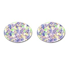 Softly Floral B Cufflinks (Oval)