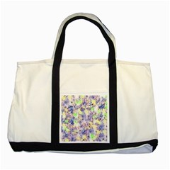 Softly Floral B Two Tone Tote Bag