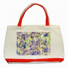 Softly Floral B Classic Tote Bag (Red)