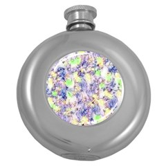 Softly Floral B Round Hip Flask (5 oz)