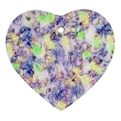 Softly Floral B Heart Ornament (Two Sides)
