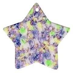 Softly Floral B Star Ornament (Two Sides)