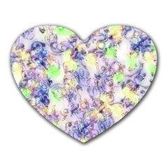 Softly Floral B Heart Mousepads