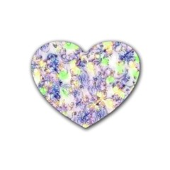 Softly Floral B Rubber Coaster (Heart)