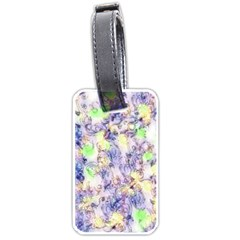 Softly Floral B Luggage Tags (One Side)