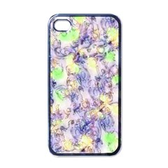 Softly Floral B Apple iPhone 4 Case (Black)