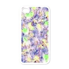 Softly Floral B Apple iPhone 4 Case (White)