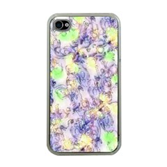 Softly Floral B Apple iPhone 4 Case (Clear)