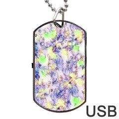 Softly Floral B Dog Tag USB Flash (Two Sides)