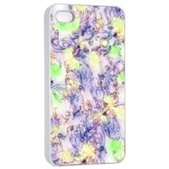Softly Floral B Apple iPhone 4/4s Seamless Case (White)