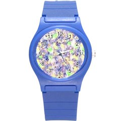 Softly Floral B Round Plastic Sport Watch (S)