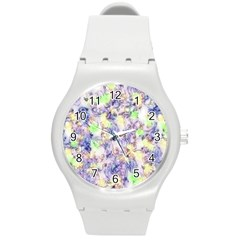 Softly Floral B Round Plastic Sport Watch (M)
