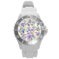 Softly Floral B Round Plastic Sport Watch (L)