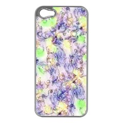 Softly Floral B Apple iPhone 5 Case (Silver)