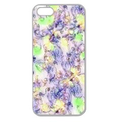 Softly Floral B Apple Seamless iPhone 5 Case (Clear)