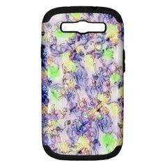 Softly Floral B Samsung Galaxy S III Hardshell Case (PC+Silicone)