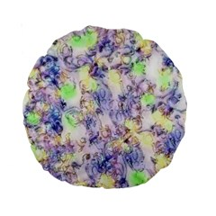 Softly Floral B Standard 15  Premium Round Cushions