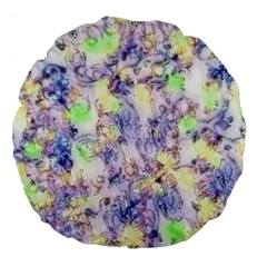 Softly Floral B Large 18  Premium Round Cushions