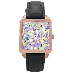 Softly Floral B Rose Gold Leather Watch