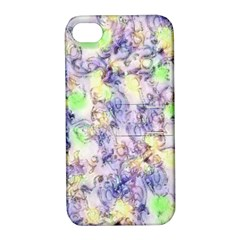 Softly Floral B Apple iPhone 4/4S Hardshell Case with Stand