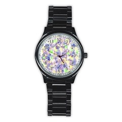 Softly Floral B Stainless Steel Round Watch