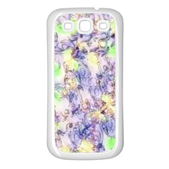 Softly Floral B Samsung Galaxy S3 Back Case (White)