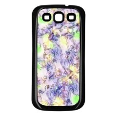 Softly Floral B Samsung Galaxy S3 Back Case (Black)