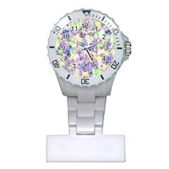 Softly Floral B Plastic Nurses Watch