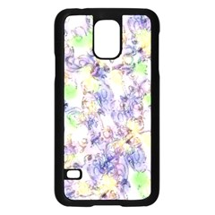 Softly Floral B Samsung Galaxy S5 Case (Black)