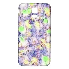 Softly Floral B Samsung Galaxy S5 Back Case (White)
