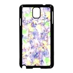 Softly Floral B Samsung Galaxy Note 3 Neo Hardshell Case (Black)