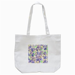 Softly Floral B Tote Bag (White)