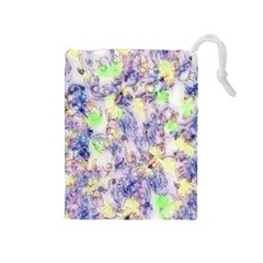 Softly Floral B Drawstring Pouches (Medium)
