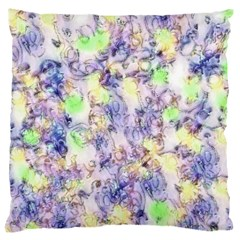 Softly Floral B Large Flano Cushion Case (One Side)