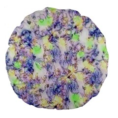 Softly Floral B Large 18  Premium Flano Round Cushions