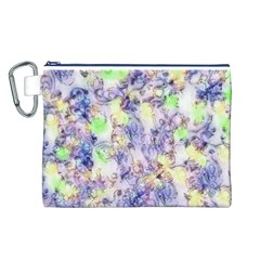 Softly Floral B Canvas Cosmetic Bag (L)