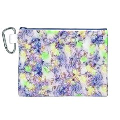 Softly Floral B Canvas Cosmetic Bag (XL)