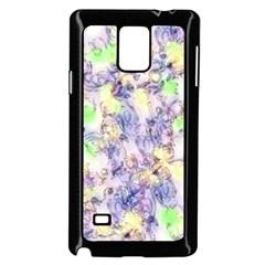 Softly Floral B Samsung Galaxy Note 4 Case (Black)