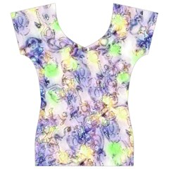 Softly Floral B Women s V-Neck Cap Sleeve Top