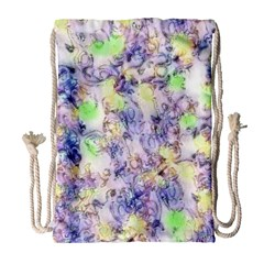 Softly Floral B Drawstring Bag (Large)