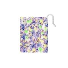 Softly Floral B Drawstring Pouches (XS)