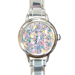 Softly Floral C Round Italian Charm Watch