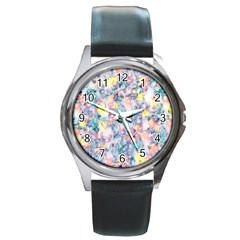 Softly Floral C Round Metal Watch