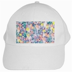 Softly Floral C White Cap
