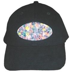 Softly Floral C Black Cap